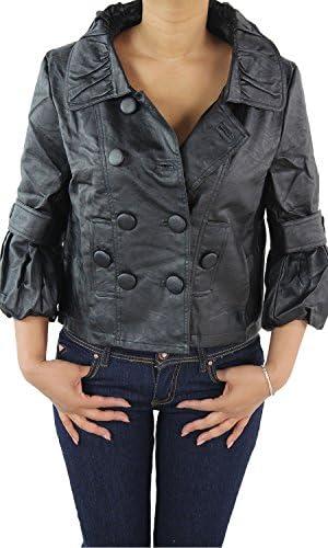 Damen Lederjacke Kunstlederjacke Leder Jacke Damenjacke Jacket Blazer