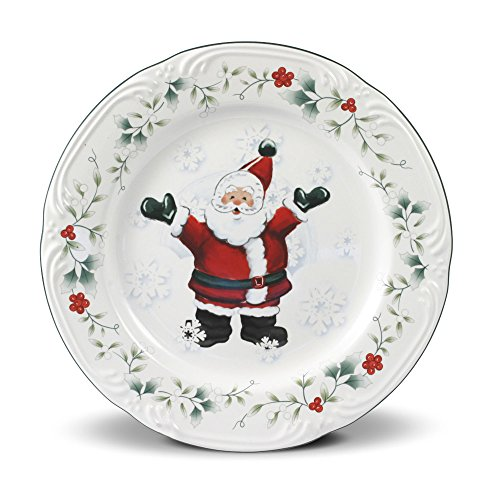 Pfaltzgraff Winterberry Jolly Santa Salad Plate (8-Inch)