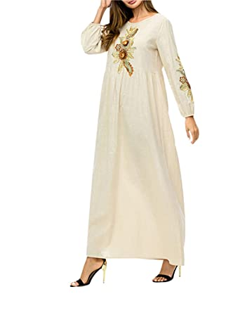 Arabe Robe Caftan Zhbotaolang Musulmane Jilbab Abaya Femme Dubai 3Lc4j5ARq
