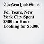 For Years, New York City Spent $300 an Hour Looking for $5,000   Jim Dwyer