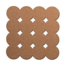 U Brands Fashion Cork Tiles, 12 X 12-Inch, 2-Pack