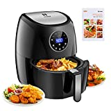 Habor Air Fryer, Programmable 7-in-1 Electric Air Fryer Oven, 3.7QT Mini Deep Air Fryer Cooker for Oilless Healthy Life, Digital LCD Touchscreen, Detachable Dishwasher Safe Basket(Recipes Included)