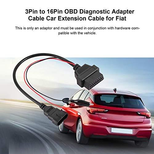 ghfcffdghrdshdfh 3pin al Cavo di Estensione del connettore Car Adapter Strumento 16Pin OBD diagnostica Cavo Spina per Fiat per Alfa per Lancia