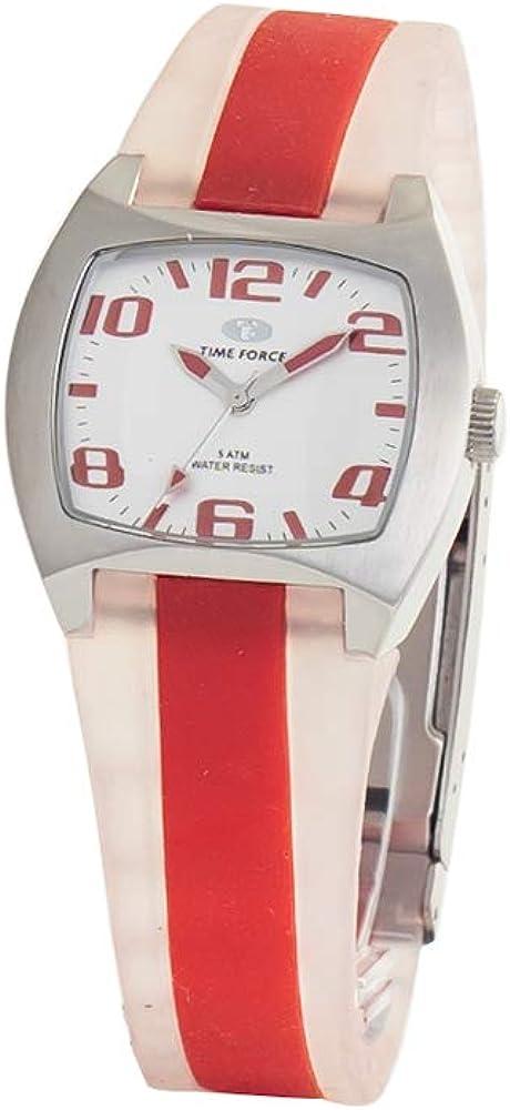 TIME FORCE Reloj Analógico para Mujer de Cuarzo con Correa en Caucho TF2253L-06