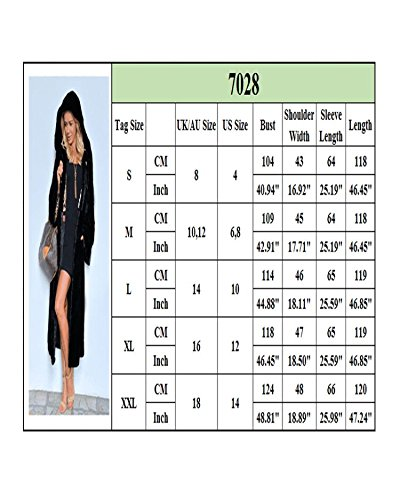 Aofur Women's Warm Winter Faux Fur Hooded Parka Long Coat Jacket Top Outwear New Fashion Thick Parka Overcoat by Aofur (Image #4)