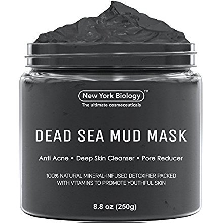 Dead Sea Mud Mask for Face & Body - 100% Natural Spa Quality - Best Pore Reducer & Minimizer to Help Treat Acne , Blackheads & Oily Skin - Tightens Skin for a Visibly Healthier Complexion - 8.8 OZ ()