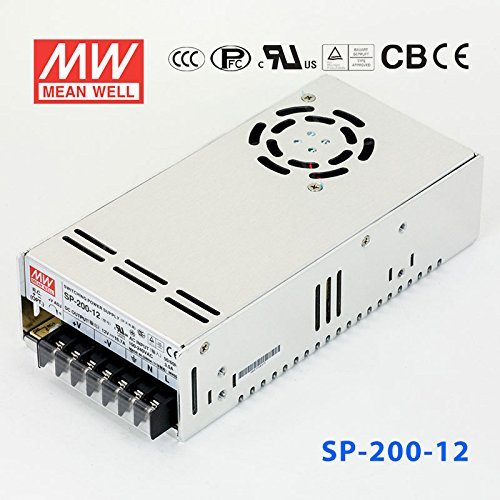 Meanwell 12V 16.7A SP-200-12 AC to DC Switching Power Supply 200W LED Strip