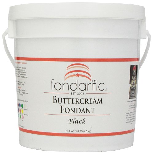 (Fondarific Buttercream Black Fondant, 10-Pounds )