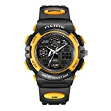 Kids Watch,Water resistant Children Wrist Watch Multi function Digital LED Quartz Analog Sports Watch with Alarm Stopwatch PU Bands for Girls Boys Gifts Watches Yellow