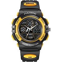 ALKSEN Kids Watch,Water resistant Digital LED Quartz Analog Sports Watch with Alarm for Girls Boys