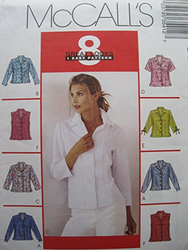 McCall's Pattern 3541 Misses' Shirts Sizes 10-12-14-16