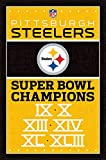 """Trends International Pittsburgh Steelers Champions Wall Poster 22.375"""" X 34"""""""
