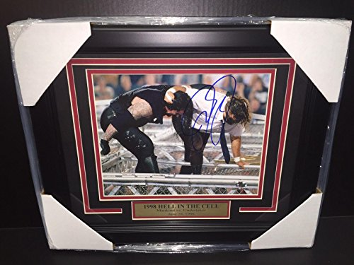 Wwe Wwf Mick Foley Mankind Autographed Framed 8x10 Photo Undertaker 1998 Hitc - Autographed Wrestling Photos