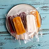 Image of Clear Ice Pop/Candy Plastic Bags Food Grade Hot Sealing Packing Containers 3.5*3.8 Inch 200 Pcs