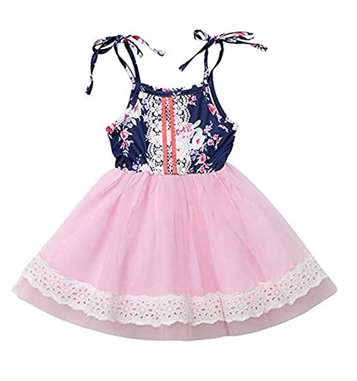 0aa3ea64aa759 Amazon.com: Kids Baby Girl Summer Dress Ruffles Lace Tunic Tutu ...