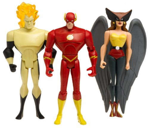 - Justice League Unlimited Trio Set - HAWKGIRL, The FLASH & WAVERIDER