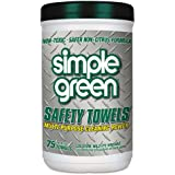 Simple Green 13351CT Safety Towels, 10 x 11 3/4, 75/Canister (Case of 6)
