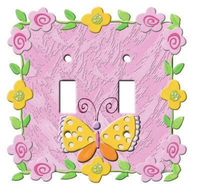 Wal Mart Home Decor - BUTTERFLY Flower SWITCHPLATE COVER girl kid decor home