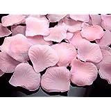 Lot de 500 pétales de rose en tissu Rose Décoration de table à disperser pour noces