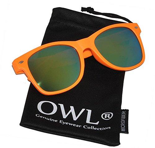 Stylish Fashion Vintage Mirror Lens Sunglasses Orange Matte ()