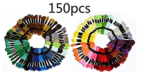 150Skeins 2 Embroidery Floss Mega Pack   Approx  8M Per Skein Various Colors   100  Mercerized Cotton