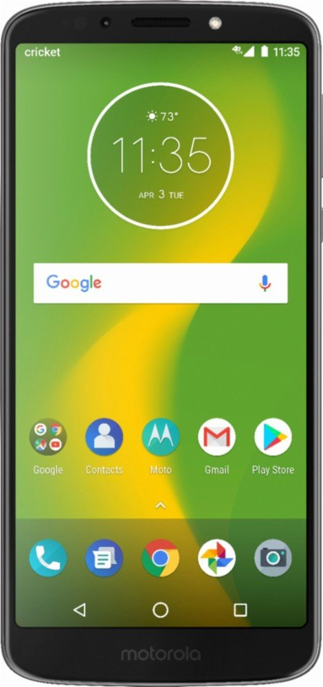 Cricket Wireless - Moto G6 Forge with 16GB Memory Prepaid Cell Phone - Black