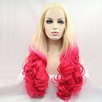 Fashion Blondepink 2t Ombre Body Wave Perücken Natural 613