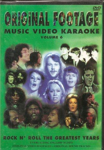 ORIGINAL FOOTAGE KARAOKE DVD #6-Rock N' Roll The Greatest Years