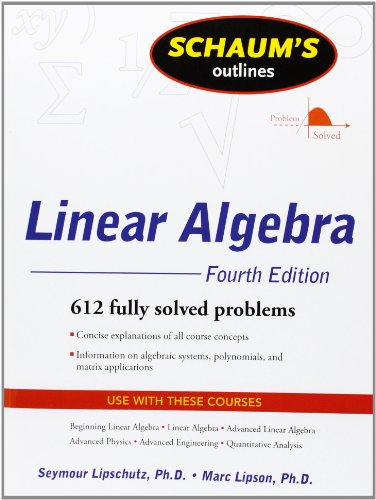 Full schaums outline book series schaums outline books in order schaums outline of linear algebra fandeluxe Image collections