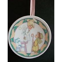 Precious Moments Mini Nativity Plate Ornament We Have Seen His Star