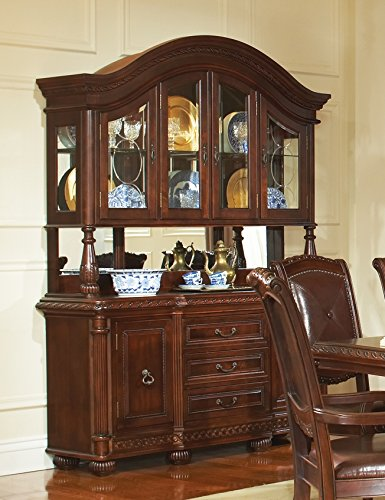 Antique Mahogany China Cabinet - 8