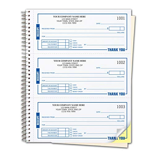 Record payments easily! Just write it up and you'll have a receipt to give your customer, another bound in the book to keep your records up to date. Get the details. Receipt form features preprinted areas that document payment, payment method & a...
