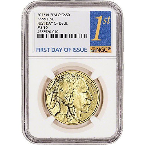 (2017 American Gold Buffalo (1 oz) First Day of Issue Yellow 1st Label $50 MS70 NGC)