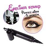 Turelifes Eyeliner Stamp Liquid Eye liner Pen , Waterproof, Smudgeproof, Long Lasting, Easy to Makeup Eyeliner and Cat Eyes, Vamp style Wing Eye Tool