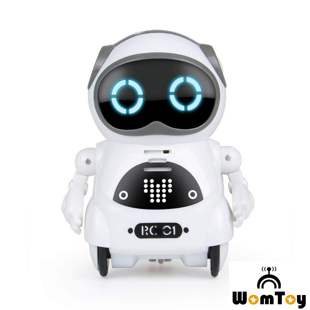 Remote Robot for Kids,WomToy Pocket RC Robot Toy Voice Recording Dancing Singing with the Interactive Control