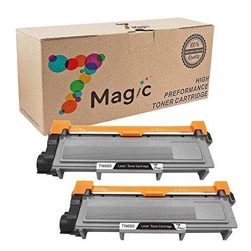7Magic Compatible Toner Cartridge Replacement for Brother TN660 TN630 Use in HL-L2300D HL-L2320D HL-L2340DW HL-L2360DW HL-L2380DW MFC-L2700DW MFC-L2720DW MFC-L2740DW DCP-L2520DW DCP-L2540DW (2Black)