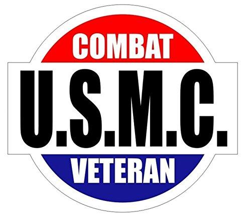 1 Pc Impassioned Unique U.S.M.C. Combat Veteran Window Sticker Mac Macbook Laptop Luggage Graphics Military Hard Hat Kit on Board Decor Vinyl Art Stickers Patches Size 2
