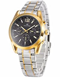 KS KS188 Imperial series Men's Automatic Mechanical Day Date Gold Silver Stainless Steel Band Wrist Watch