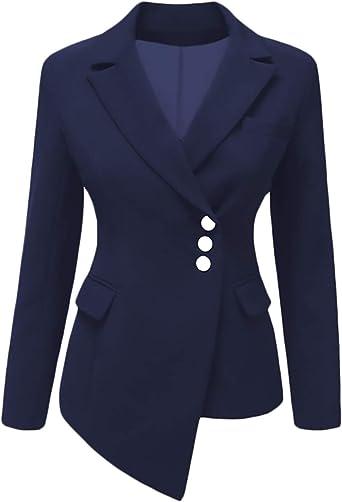 Americana Mujer Elegantes Vintage Slim Fit Negocios Oficina ...
