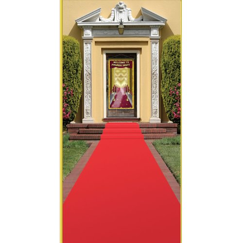 Beistle Carpet Runner, 24in by 15 ft, Red