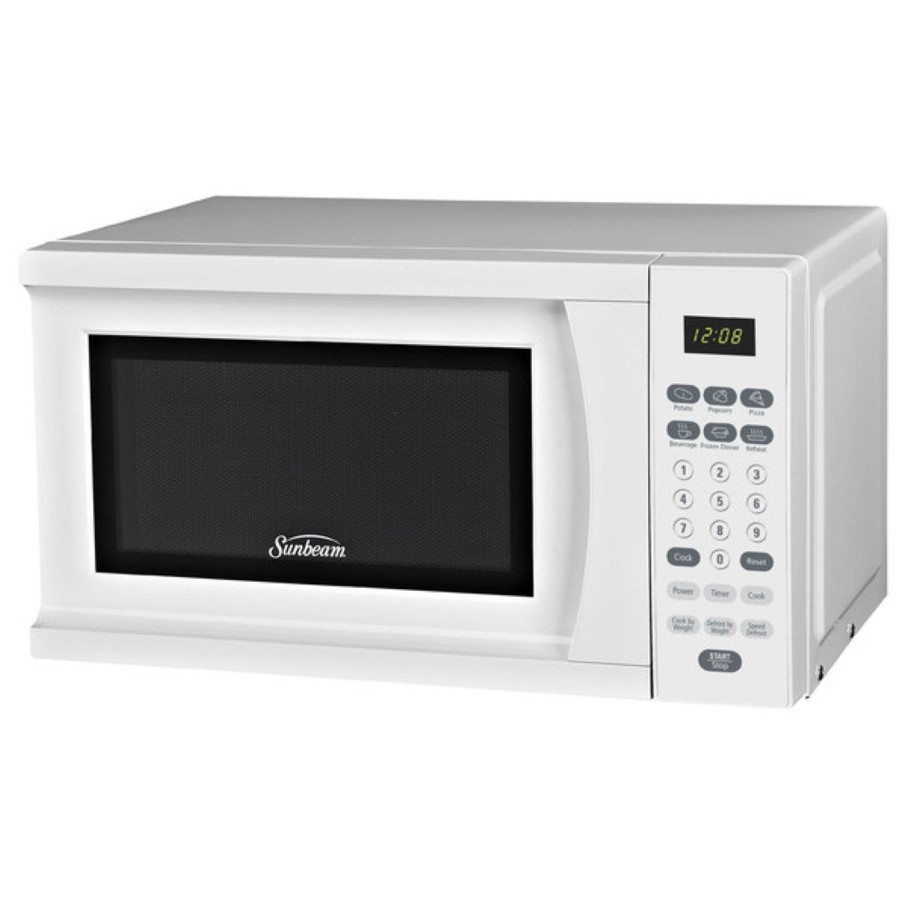 Sunbeam 0.7 Cu. Ft. 700W Countertop Microwave, Microwave Ovens Countertop, White