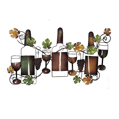 Deco 79 63546 Traditional Wine and Grapevine Iron Wall Decor, 19