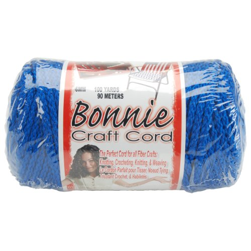 Pepperell 6mm Bonnie Macramé Craft Cord, 100-Yard, Royal Blue Bonnie Blue Patterns