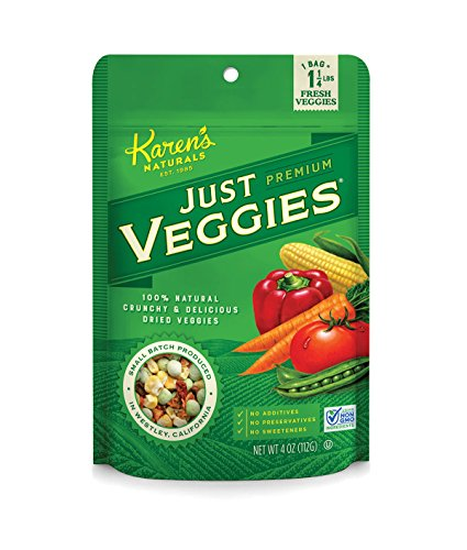 Karen's Naturals Just Veggies, 4-Ounce Package (Pack of 6) (Packaging May (Dried Veggies)