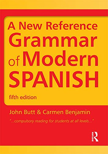 A New Reference Grammar of Modern Spanish: Volume 1 (Routledge Reference Grammars) Pdf