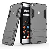 Taslar Dual Layer Hybrid Armor Stand Cover Case Protector Back Cover Kickstand For Xiaomi Mi Max 2 - Grey