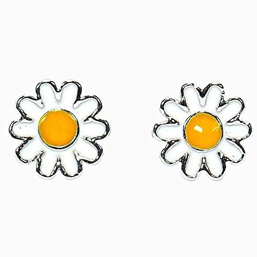 d4d8d0017 Image Unavailable. Image not available for. Color: Pura Vida Silver Daisy  Stud Earrings ...