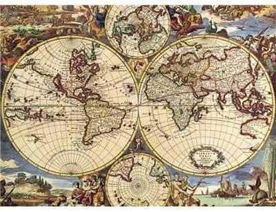 Editions Ricordi 2801N16020G - Puzzle de 1000 Piezas diseño Mapamundi Antiguo: Amazon.es: Juguetes y juegos
