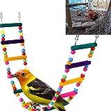 Wooden Chicken Toy Flexible Ladder Swing Bird Hamster Parrot Parakeet Budgie Pet Cat Play Swing Standing Perch