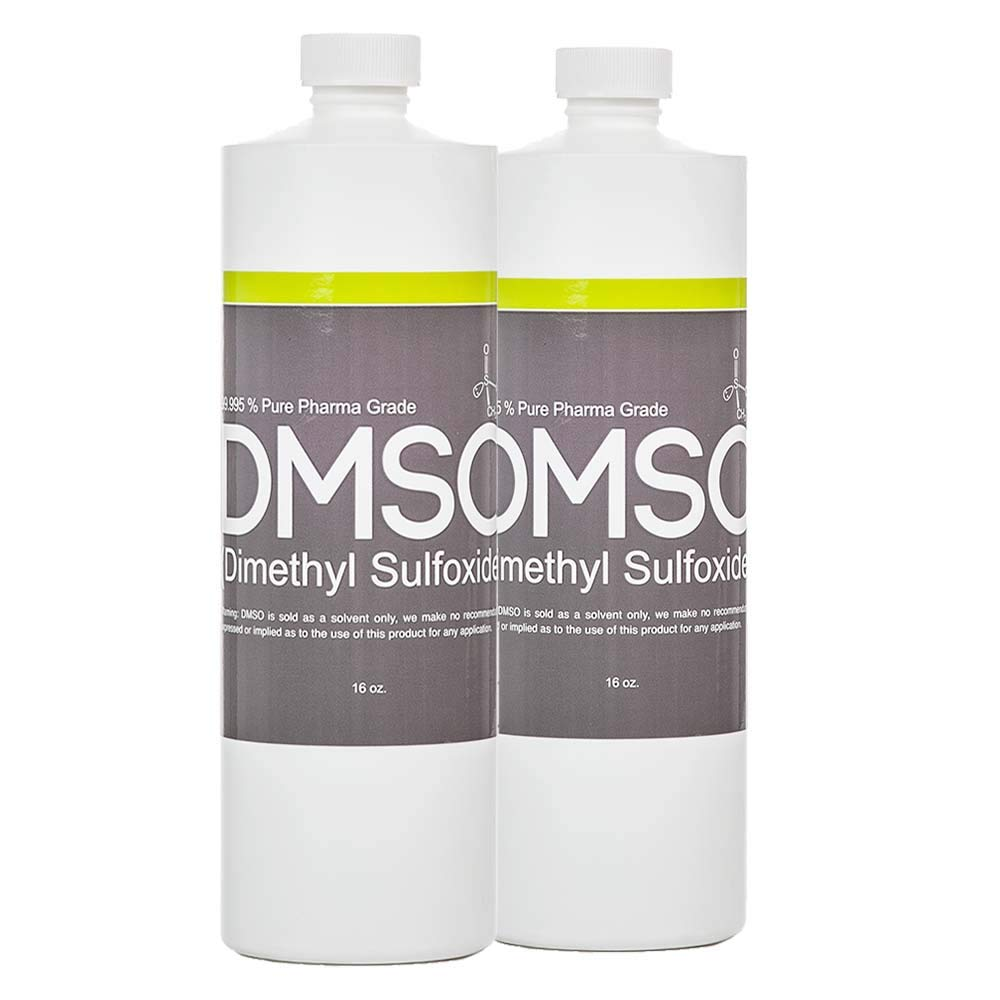 DMSO Dimethyl Sulfoxide Buy 1 Get 1 Free 16 oz Low Odor 99.995% Pure Pharma Grade, in BPA Free Container